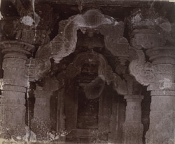 Close view of arch over entrance of the (?) Ekalinga Temple, Eklingji
